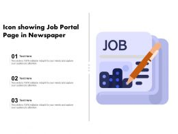 Icon Showing Job Portal Page In Newspaper