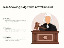 Icon Showing Judge With Gravel In Court