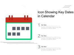 Icon Showing Key Dates In Calendar