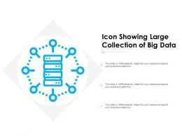 Icon Showing Large Collection Of Big Data