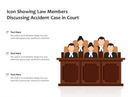 Icon Showing Law Members Discussing Accident Case In Court