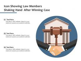 Icon Showing Law Members Shaking Hand After Winning Case