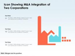 Icon Showing M And A Integration Of Two Corporations
