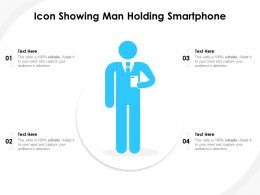 Icon Showing Man Holding Smartphone