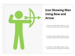 Icon Showing Man Using Bow And Arrow