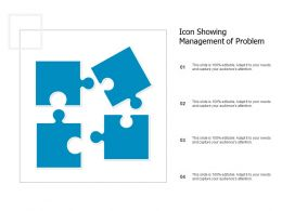 Icon Showing Management Of Problem
