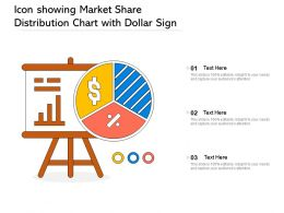 Icon Showing Market Share Distribution Chart With Dollar Sign