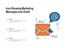 Icon Showing Marketing Messages Over Email