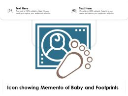 Icon Showing Memento Of Baby And Footprints