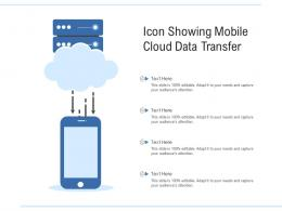 Icon Showing Mobile Cloud Data Transfer