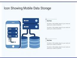Icon Showing Mobile Data Storage