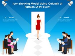 Icon Showing Model Doing Catwalk At Fashion Show Event