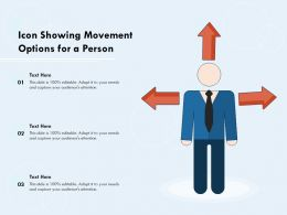 Icon Showing Movement Options For A Person