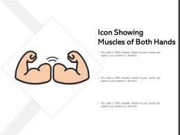 Icon Showing Muscles Of Both Hands