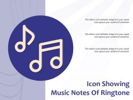 Icon Showing Music Notes Of Ringtone