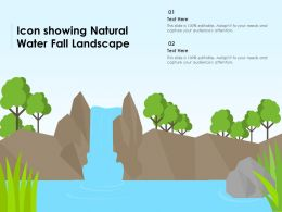 Icon Showing Natural Water Fall Landscape
