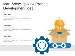 Icon Showing New Product Development Idea