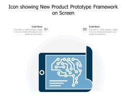 Icon Showing New Product Prototype Framework On Screen