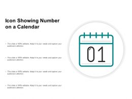 Icon Showing Number On A Calendar