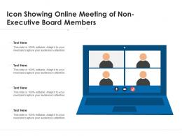 Icon Showing Online Meeting Of Non Executive Board Members