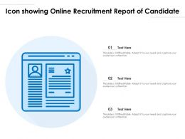 Icon Showing Online Recruitment Report Of Candidate