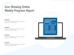 Icon Showing Online Weekly Progress Report
