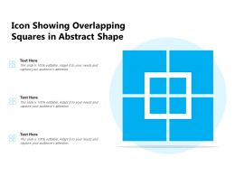 Icon Showing Overlapping Squares In Abstract Shape
