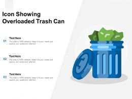 Icon Showing Overloaded Trash Can