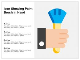 Icon Showing Paint Brush In Hand