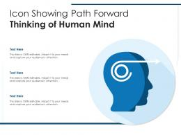 Icon Showing Path Forward Thinking Of Human Mind