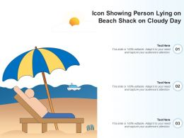 Icon Showing Person Lying On Beach Shack On Cloudy Day