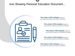 Icon Showing Personal Education Document Profile Cv With Pen