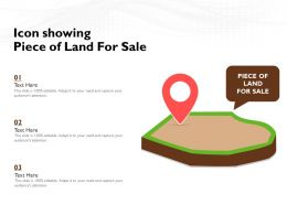 Icon Showing Piece Of Land For Sale