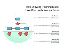 Icon Showing Planning Model Flow Chart With Various Boxes