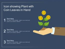 Icon Showing Plant With Coin Leaves In Hand
