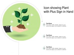 Icon Showing Plant With Plus Sign In Hand