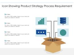 Icon Showing Product Strategy Process Requirement