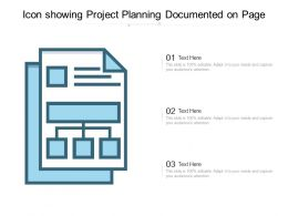 Icon Showing Project Planning Documented On Page