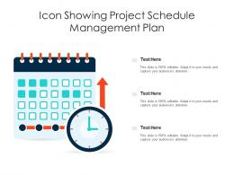 Icon Showing Project Schedule Management Plan