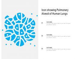 Icon Showing Pulmonary Alveoli Of Human Lungs