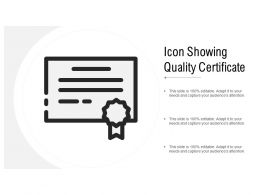 Icon Showing Quality Certificate