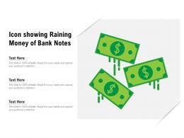 Icon Showing Raining Money Of Bank Notes