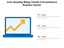 Icon Showing Rising Trends In Ecommerce Business Sector