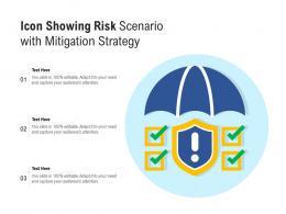 Icon Showing Risk Scenario With Mitigation Strategy