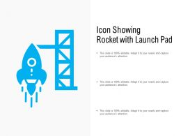 Icon Showing Rocket With Launch Pad