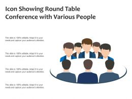 Icon Showing Round Table Conference With Various People