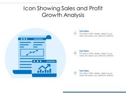 Icon Showing Sales And Profit Growth Analysis