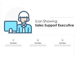 Icon Showing Sales Support Executive