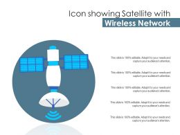 Icon Showing Satellite With Wireless Network