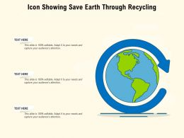 Icon Showing Save Earth Through Recycling